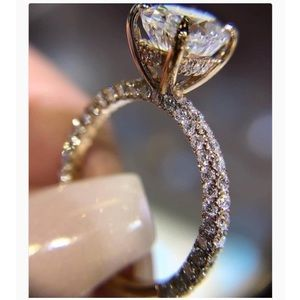 Jewelry - 14k yellow gold engagement ring diamond oval 2 ct